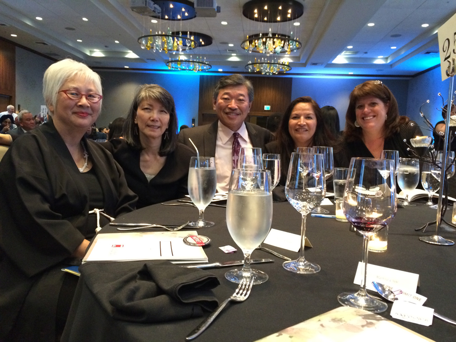 From left: Diane Narasaki, Rep. Sharon Tomiko Santos, Sen. Bob Hasegawa, Hon. Claudia Kauffman,  and King County Councilmember Claudia Balducci. (Photo by Assunta Ng/NWAW)