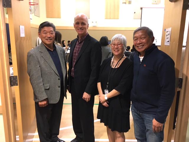 From left: State Sen. Bob Hasegawa, Rep. Adam Smith, Diane Narasaki, and Rick Politan. (Photo by John Liu/NWAW)