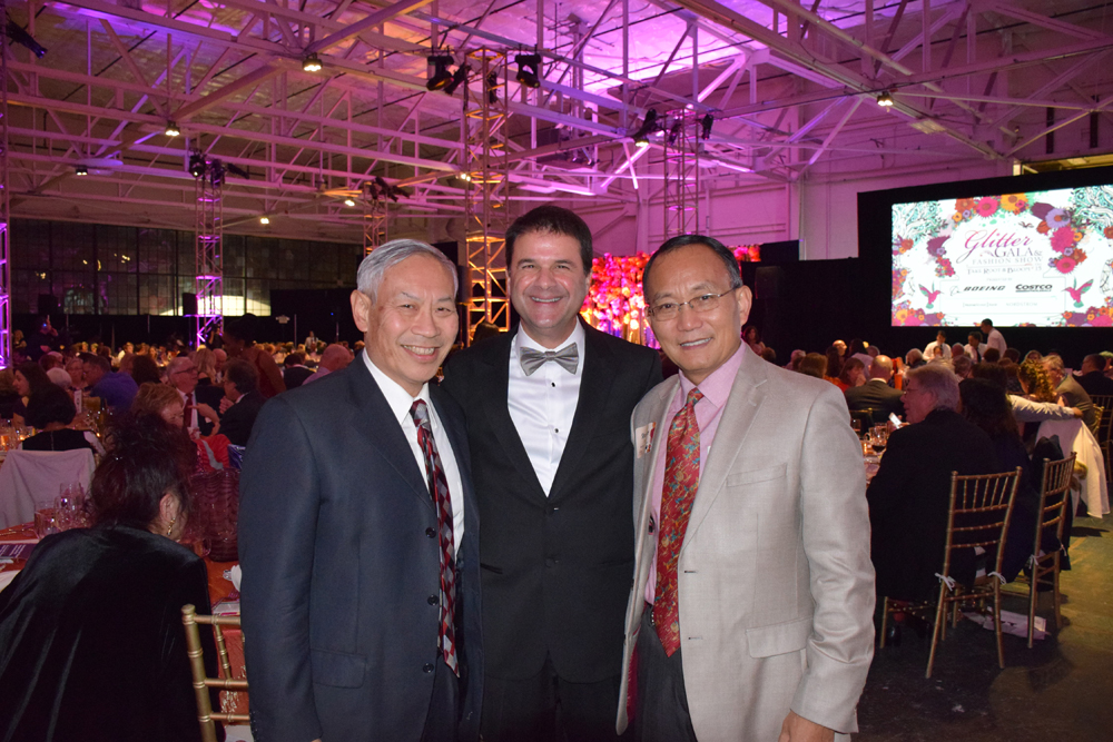 From left: Wayne Lau, Daryl Campbell, and Dr. Shouan Pan