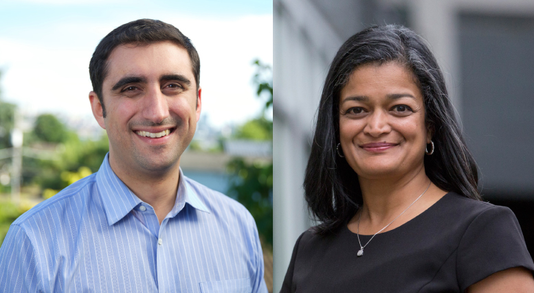 Brady Walkinshaw (left) and Pramila Jayapal