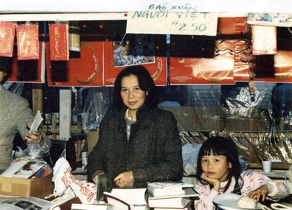 Kim Pham's wife Hang Nga and daughter Julie Pham (Photo from Julie Pham)