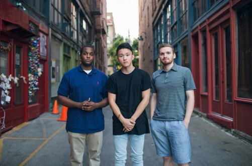 From left: Aaron Middleton, Troy Osaki, and Quinn Russell Brown (Photo from Brown)
