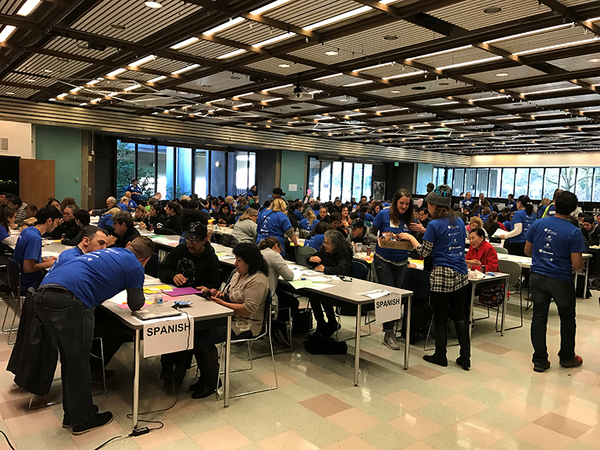 Immigrants came from all over Seattle for assistance in filling out the N400 Naturalization Form. (Photo provided by the City of Seattle)