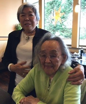 Kiku (left) and mom, Kimiye Hayashi