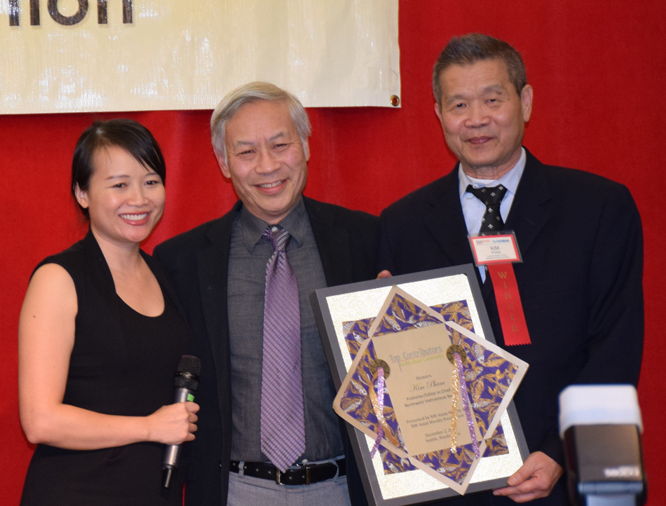 From left: Julie Pham, Wayne Lau, and Kiim Pham.