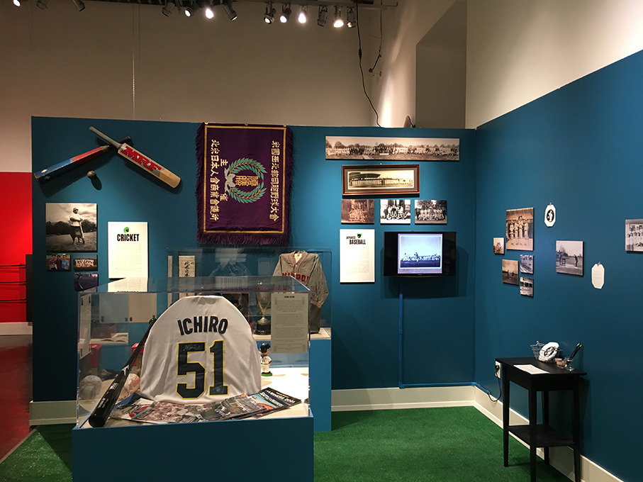 An entire section of the exhibit is dedicated to Ichiro Suzuki. (Photo by Jason Cruz/NWAW)