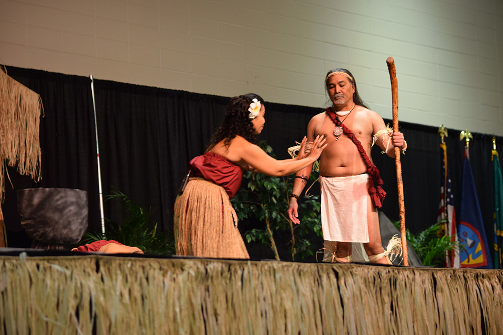 Guma' Imahe dancers chanted a legendary tale of a Chamorro brother and sister.