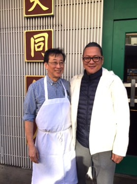 Harry Chan, Tai Tung owner (left) with Chef Masaharu Morimoto (right).