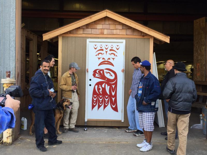 New tiny houses built by the Tulalip Tribes TERO program will be going to the Georgetown site. (Photo provided by LIHI)