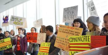 Little Saigon protests at City Hall, demands to be heard, meets with councilmembers