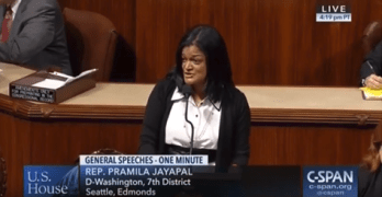 Jayapal stands in solidarity with the Seattle Seahawks