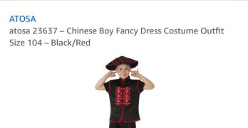 Amazon, eBay remove 'Chinese Boy' costumes