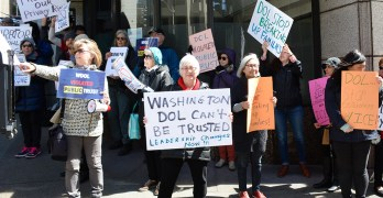 Protesters demand resignation of DOL director