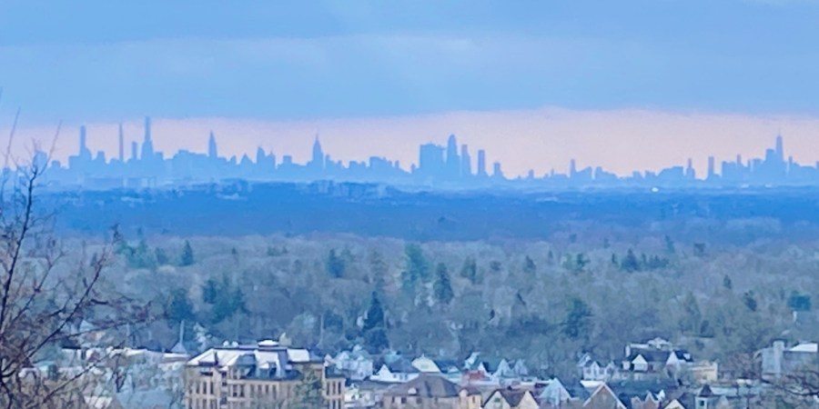 The View of NYC from Crest Road in Ridgewood NJ