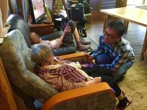 Dr Ng Wai Chong attending to frail seniors