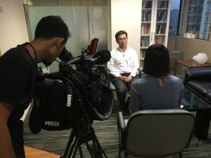 Media filming with Dr Ng Wai Chong