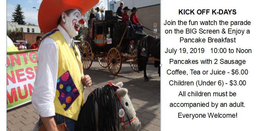 Kick Off K-Days Parade and Pancake Breakfast