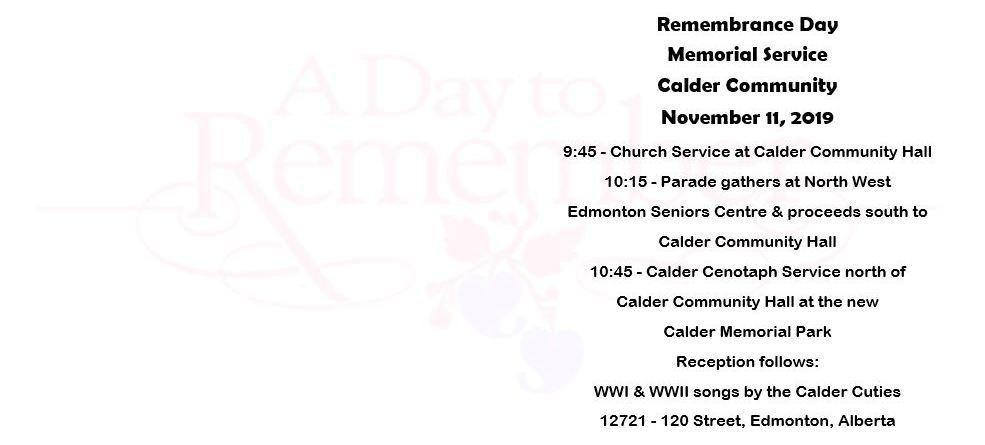 Remembrance Day Service – Calder Memorial Park 2019