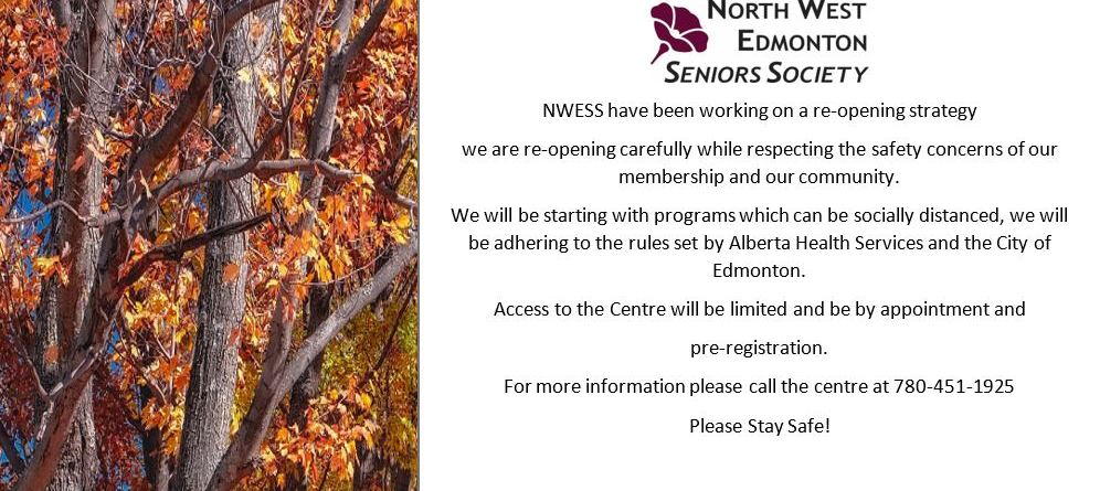 NWESS re-opening starts October 5th