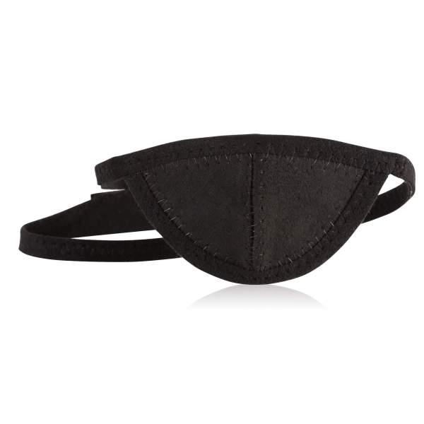 slim eye patch in black