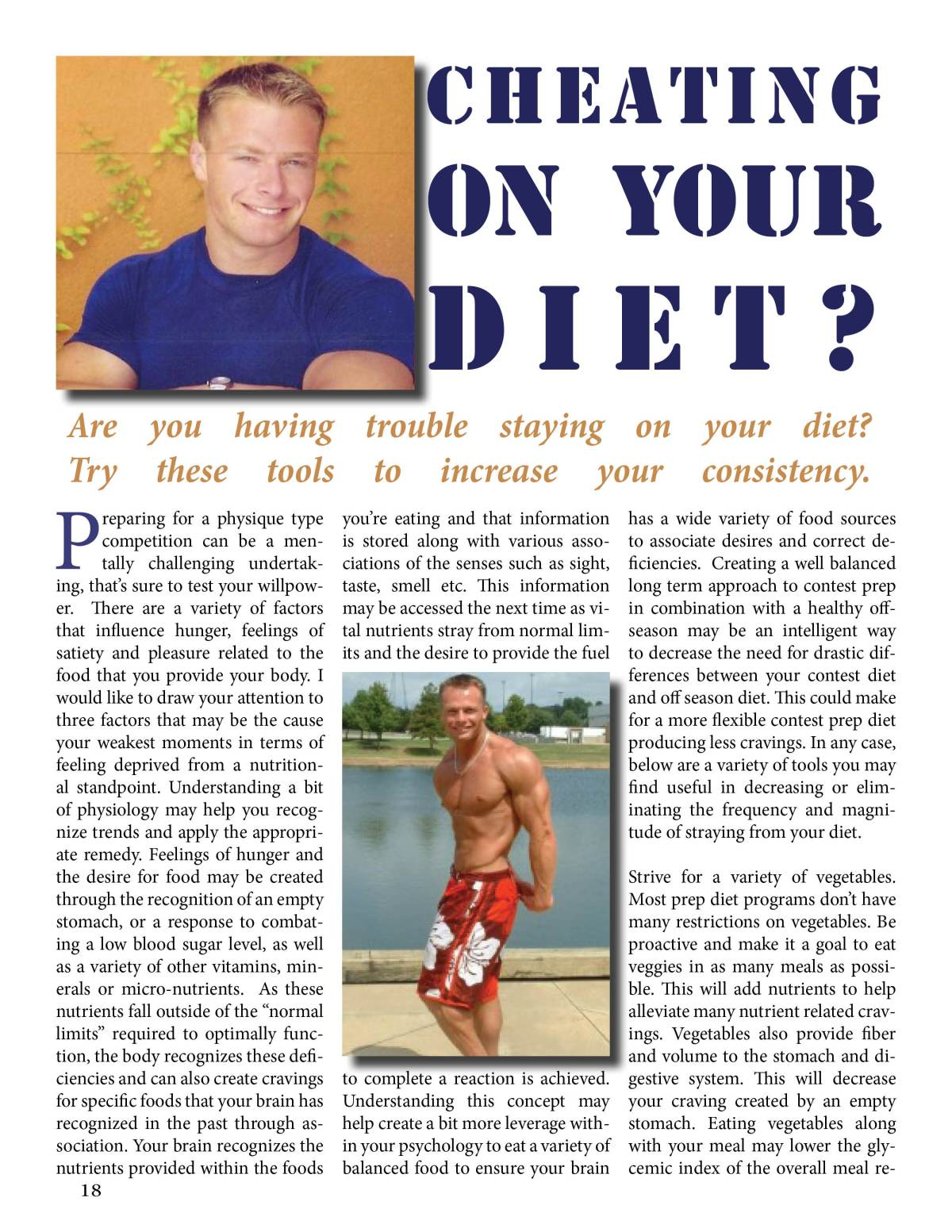 Cheating On Your Diet, NW Fitness Magazine, Jeremy Williams