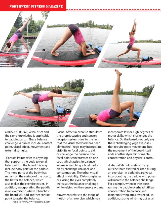 Standup Paddle Board Yoga - by Elizabeth Kovar M.A.