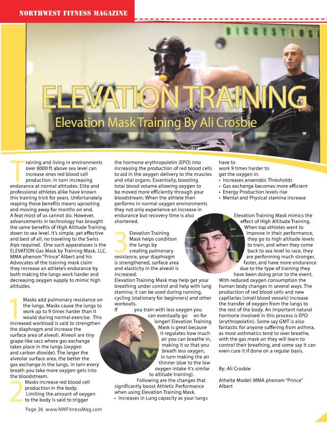ELEVATION TRAINING - Elevation Mask Training  By Ali Crosbie  NW FITNESS MAGAZINE