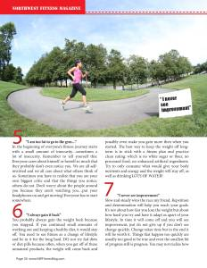 Common Excuses for Not Getting in Shape By: Tiare Vincent