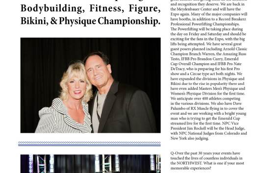 NW Fitness Magazine NW Fitness Magazine interview with Brad and Elaine Craig (2012) Promoters of the Northwest's most prestigious Bodybuilding, Fitness, Figure, Bikini, and Physique Championship.