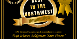 "Tanji Johnson Bridgeman ""Save Fitness"" NW Fitness Magazine Best in the NW – Competition Team - Contest Prep Coach – Posing Coach  – Personal Trainer"