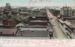 Pensacola, View of the Harbor. Postmarked 1907