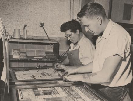 Grandma working at the Tri City Herald