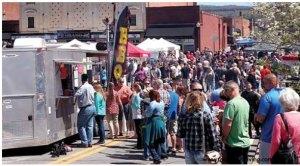 Street fair with food trucks