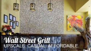 Interior of Wall Street Grill.