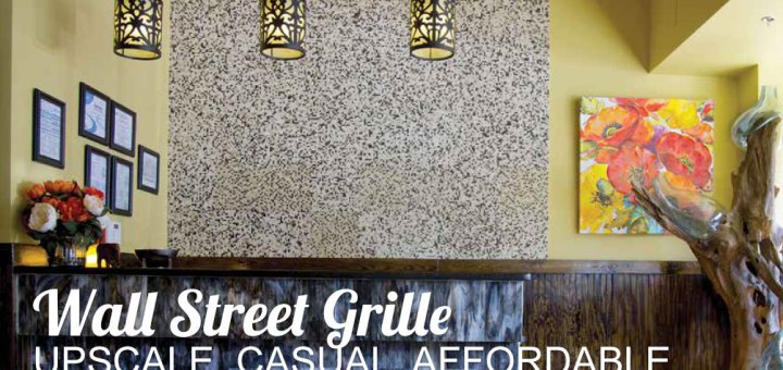 Interior wall of Wall Street Grille