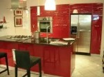 Example of Abstrakt Red kitchen