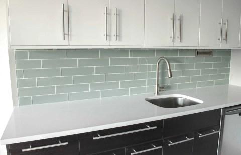 """4x12"""" glass tiles for the backsplash"""