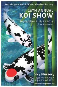 28th Annual Washington Koi & WGS Koi Show @ Sky Nursery