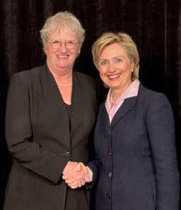 Mary Botkin and Hillary Clinton