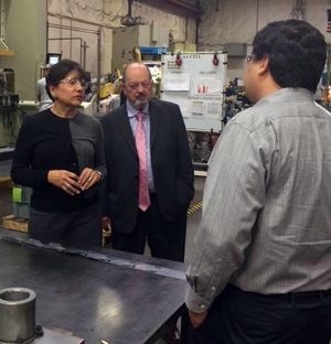 Commerce Secretary Penny Pritzker at the Leatherman factory in Portland