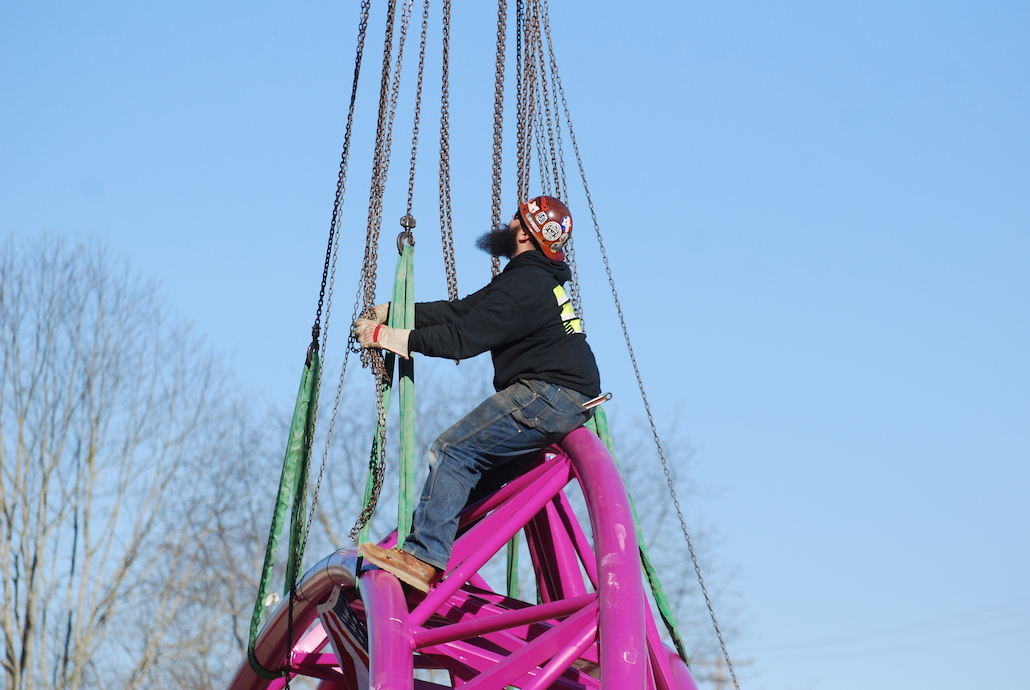 Union Iron Workers erect new roller coaster at Oaks Park in record time