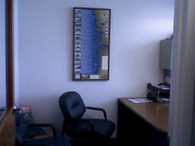 Dead Reckoning office photo hanging with the Coast Guard