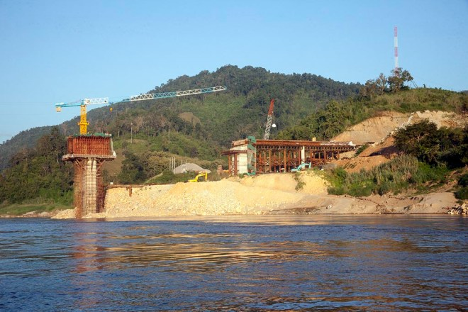 Dam construction in Laos