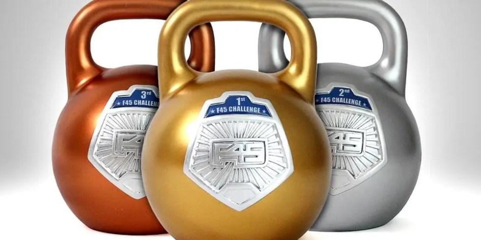 f45 challenge kettlebells