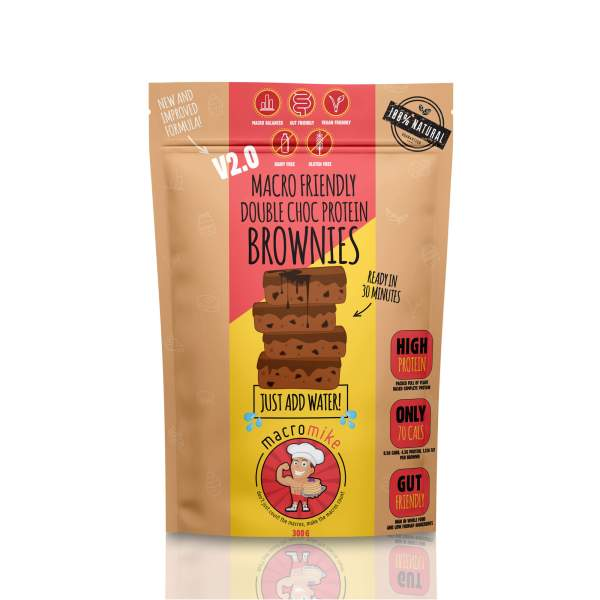 macro mike healthy brownie baking mix