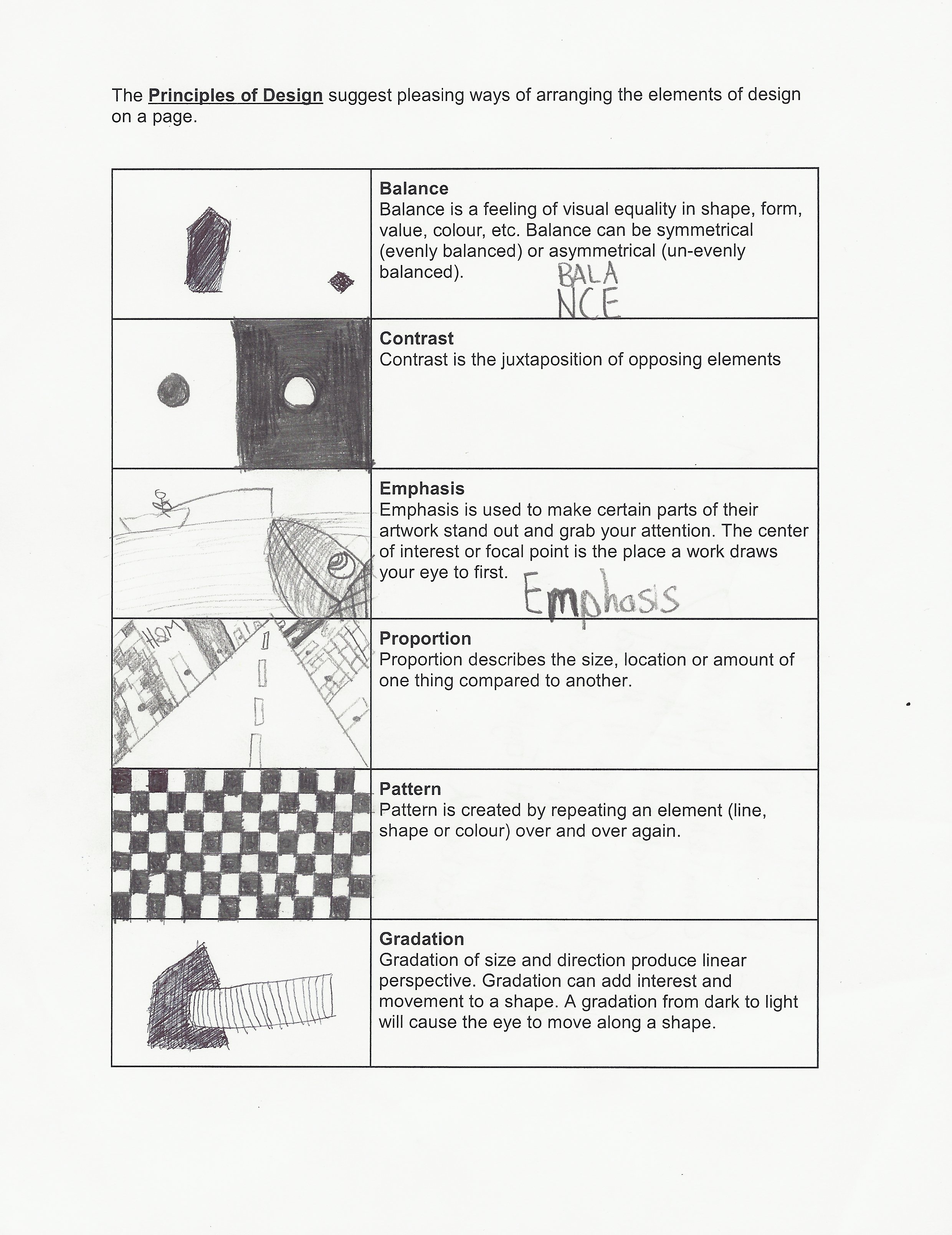 Principles Of Design Worksheet