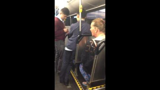 School boy racially abused by 50 year old woman on Sydney bus