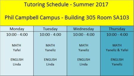 Summer 2017 Tutoring PC