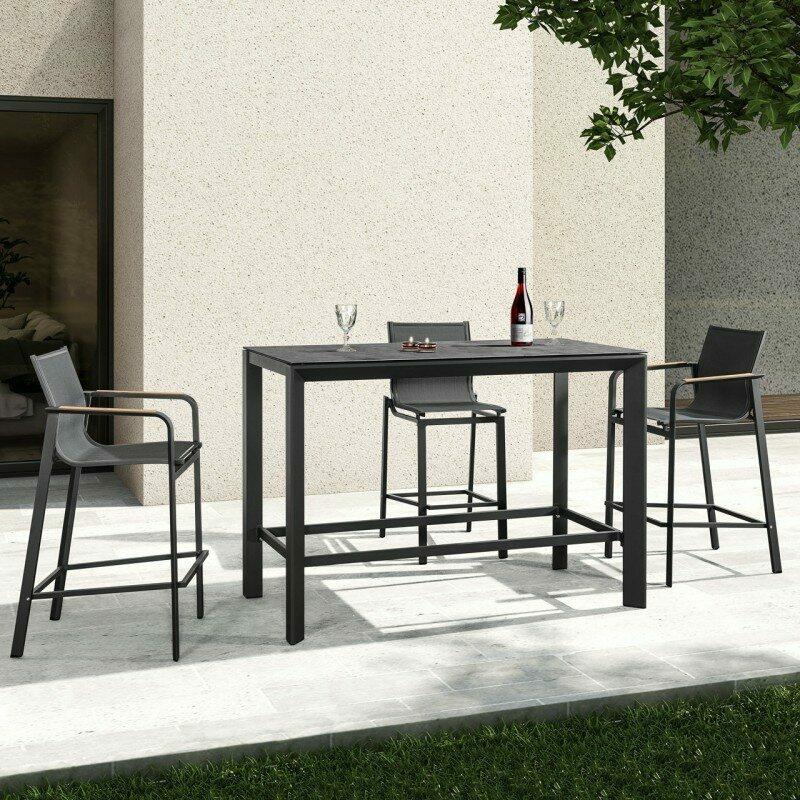 harrier luxury outdoor bar stools table set 4 seats