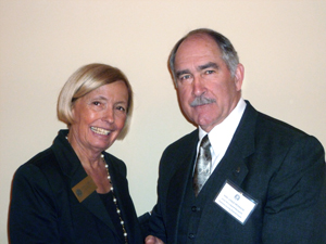 michele radosevich and local hero hon. vance peterson